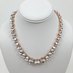 CHARTER CLUB Faux Diamond Necklace Rose Gold